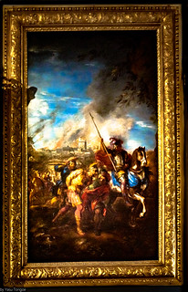 Artwork in the interior of Versailles, France-61