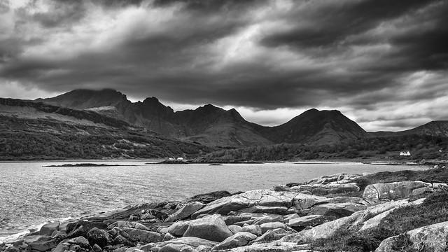 Blà Bheinn [Blaven] from the shoreline of Loch Slapin at Torrin