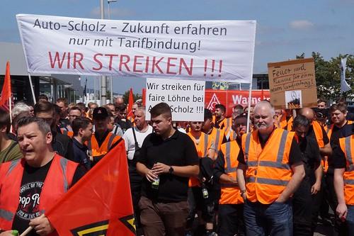 2019-07-19 Warnstreik/Demozug Auto Scholz