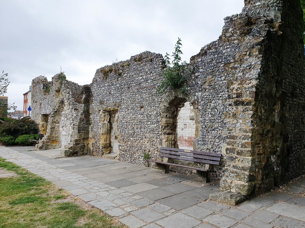 The ruins of the Blackfriars, next to the Museum