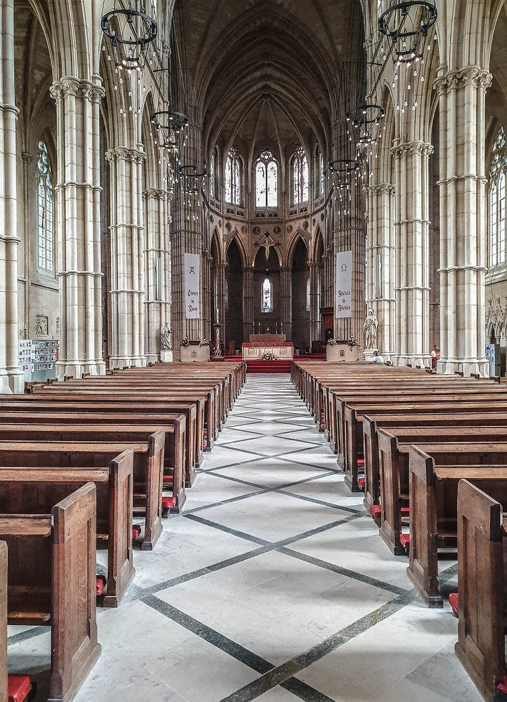 The interior of Arundel Cathedral