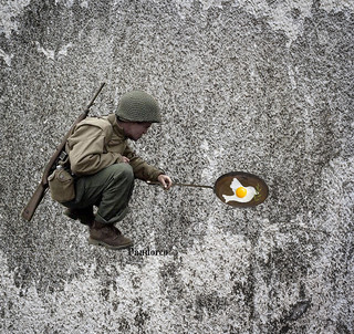 soldier cooking dead