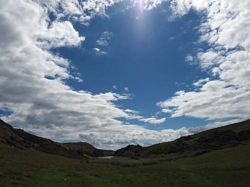 clouds above mire loch