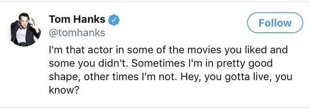 Tom Hanks on Twitter