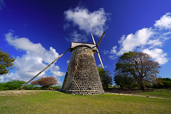 Wonderful clouds over the old mill, Betty's Hope, Antigua