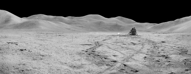 Panorama view of Station 8 and (Mons) Mt. Hadley