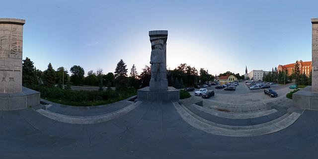 """Polen - Olsztyn, Sowjet-Denkmal """"Befreiung der Erde von Ermland-Masuren"""" 360 Grad"""