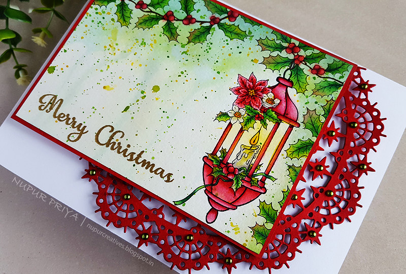 Underpainting Watercolored Christmas Card_4_Nupur Creatives