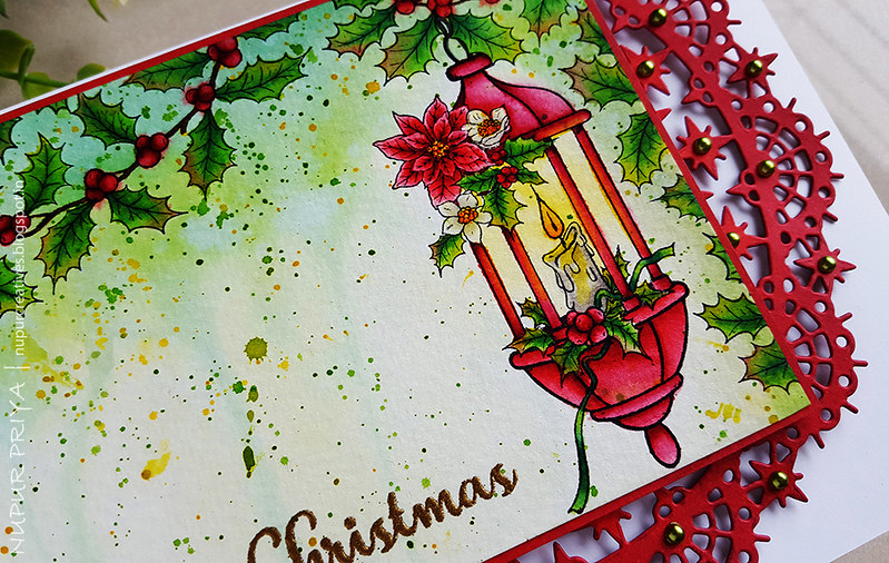 Underpainting Watercolored Christmas Card_3_Nupur Creatives