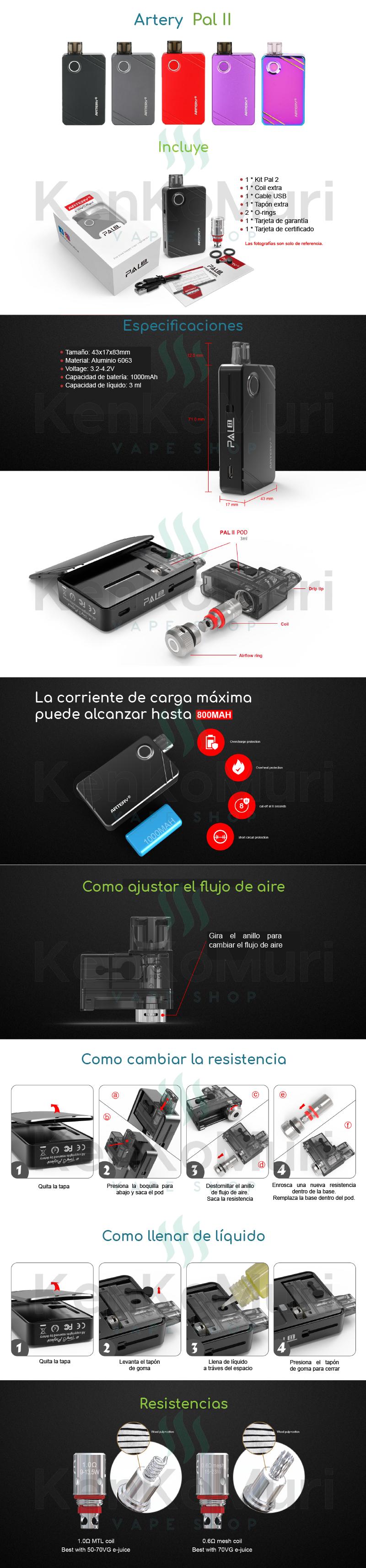 cigarroelectronico-vapeador-artery-pal-2-mexico-kenkomuri