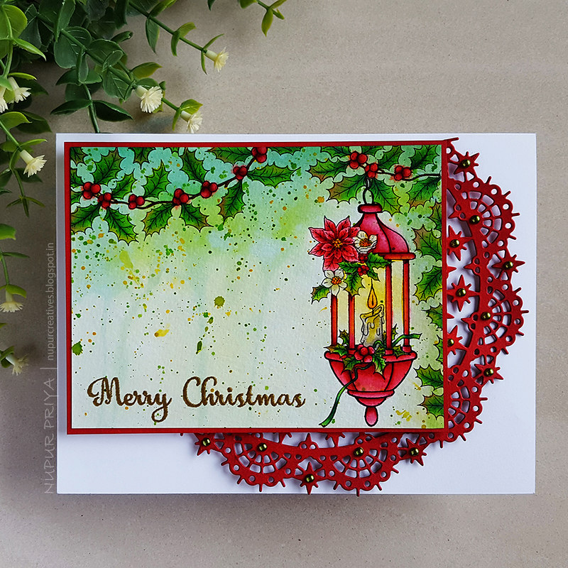 Underpainting Watercolored Christmas Card_1_Nupur Creatives