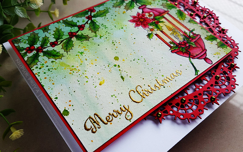 Underpainting Watercolored Christmas Card_2_Nupur Creatives
