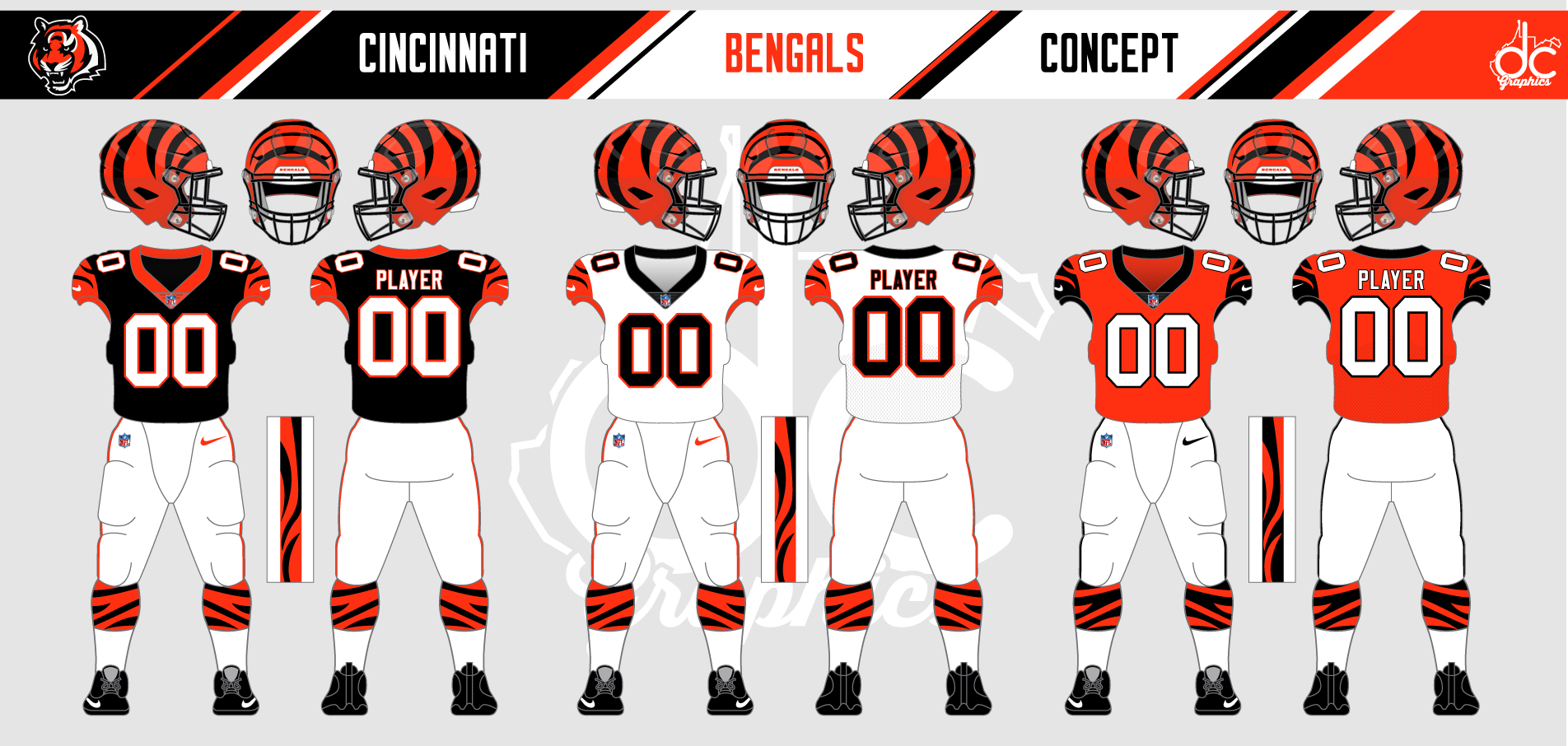 Cincinnati Bengals Uniform Redesign Challenge Results
