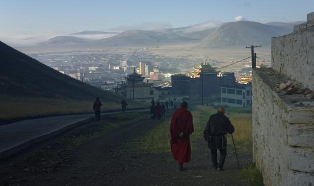 Sunrise kora walk at Sershul monastery, Tibet 2018