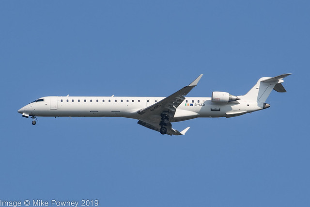 EI-GED - 2009 build Bombardier CRJ900ER NG, operated by CityJet for Brussels Airlines inbound to Manchester