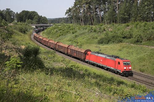 185 295 . DB Cargo . Sinngrün , Beratzhausen . 26.06.19.