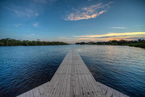 florida water sun sunset parrish pier manateeriver forthamer park dock