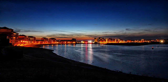Sovereign Harbour at night