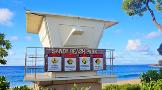 Sandy Beach Park Lifeguard Stand - Oahu, Hawaii