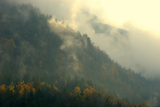 CLOUDS AND MOUNTAINS AROUND AGASSI, FRASER VALLEY,  BC.