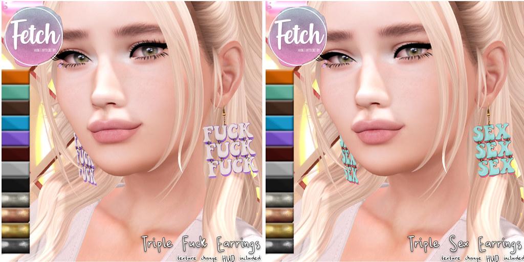 [Fetch] Triple Fuck & Sex Earrings @ Afterglow!