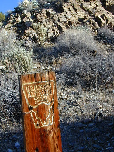 Antique signs still on trail (2001)