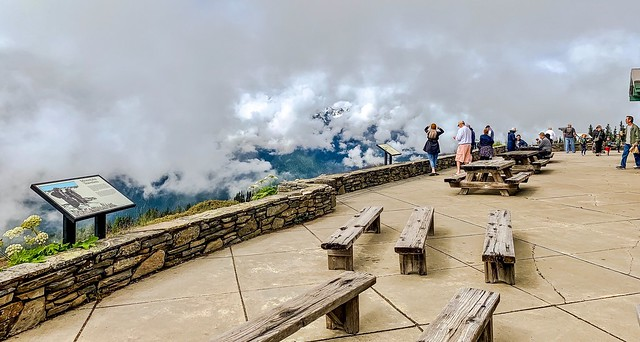Olympic National Park:  A Balcony in the Clouds at the Hurricane Ridge Visitor Center.