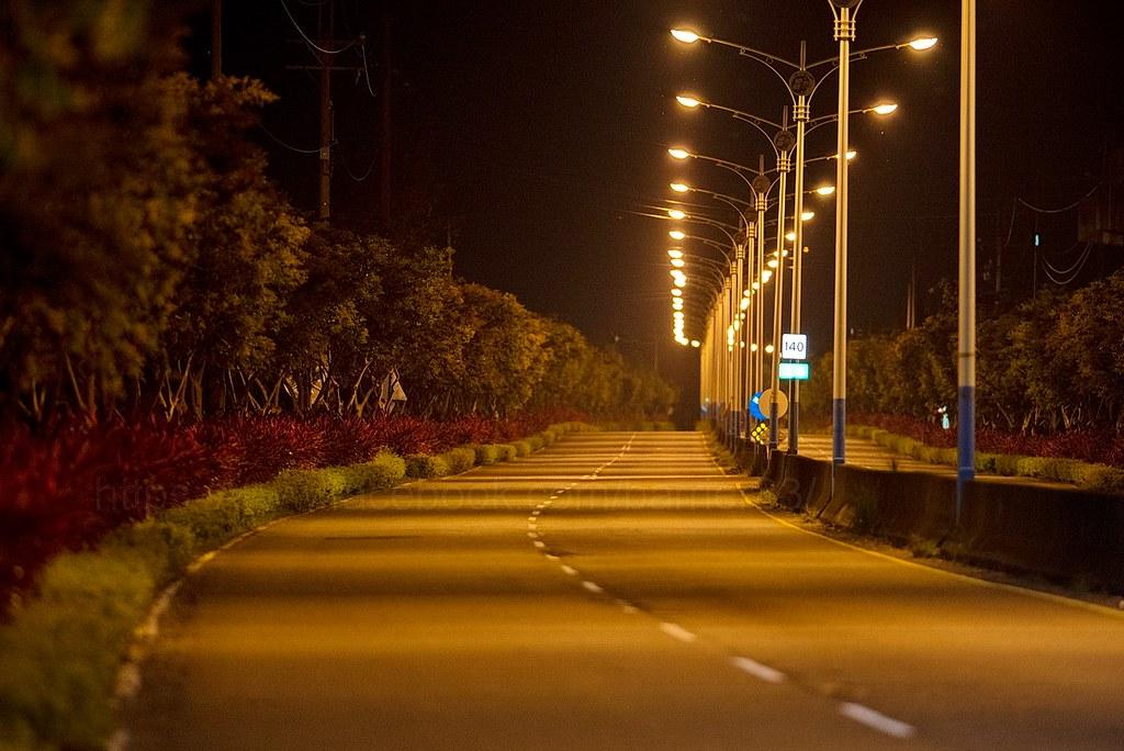夜間的苗140道路。貓徑地圖王小明提供。