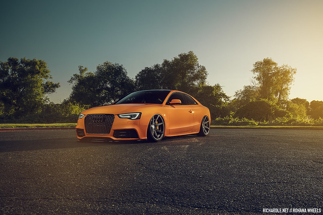 Glut Orange Audi A5 for Rohana Wheels