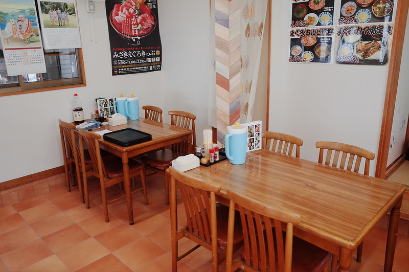 みさきまぐろきっぷの旅 城ヶ島中村屋店内テーブル席