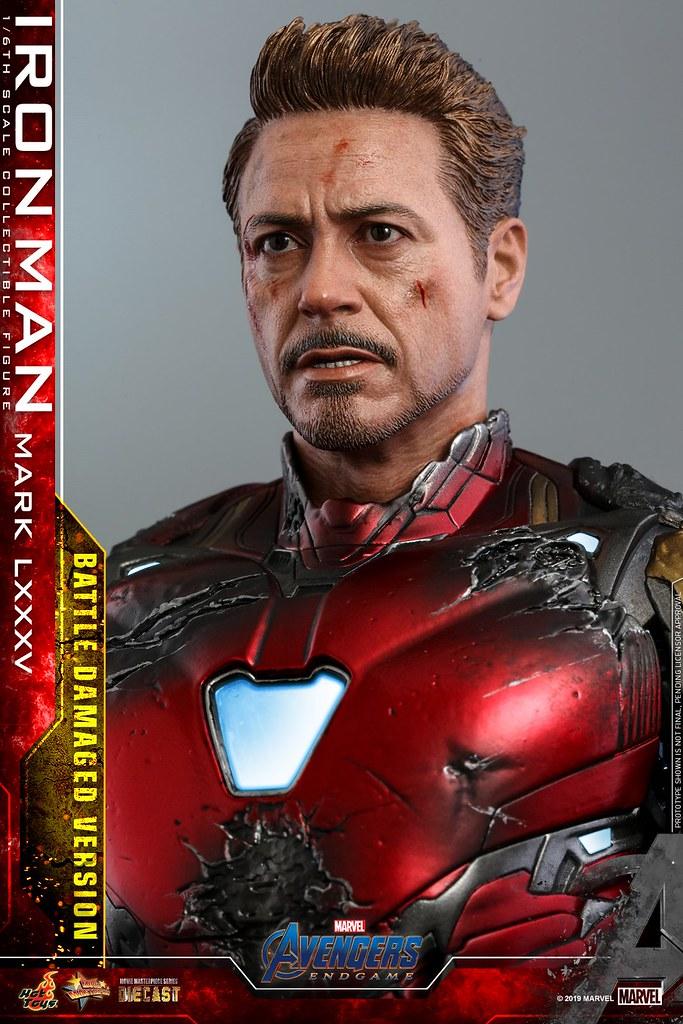 """I Am Iron Man!"" Hot Toys– MMS543D33《復仇者聯盟:終局之戰》鋼鐵人馬克85 (戰損版) Iron Man Mark LXXXV (Battle Damaged Version) 1/6 比例人偶作品"