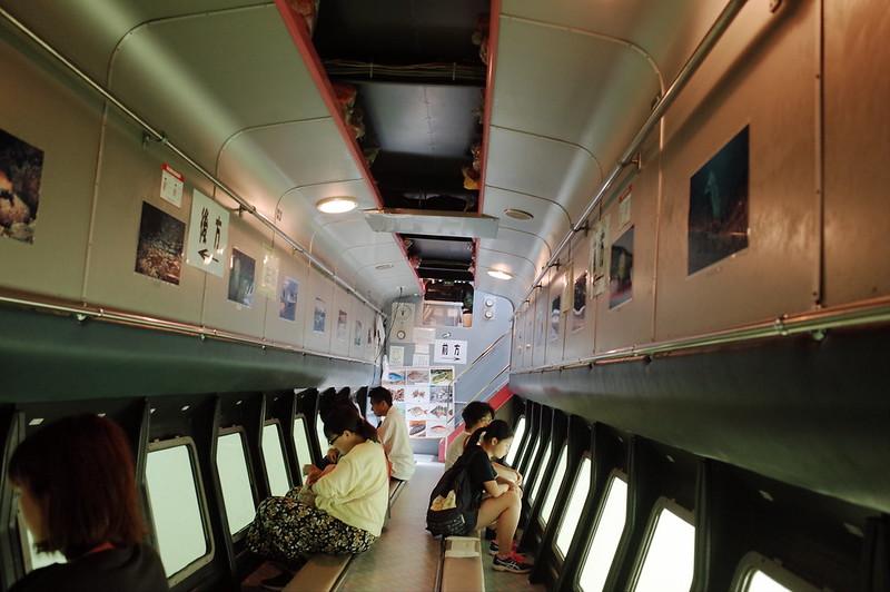 みさきまぐろきっぷの旅 三崎港にじいろさかな号船内