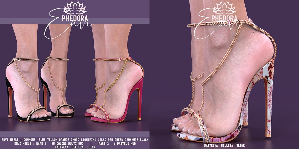 "Phedora. for The Epiphany – ""Envi"" chained heels ♥"