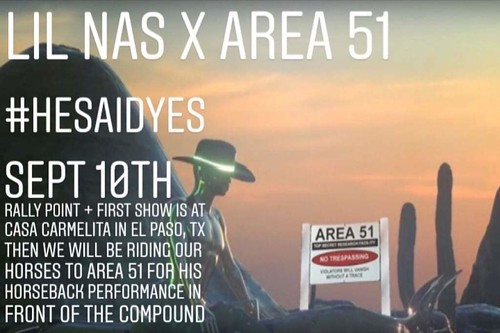 Lil Nas X to perform while storming Area 51?