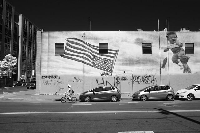 Flag Mural, Oak and 4th