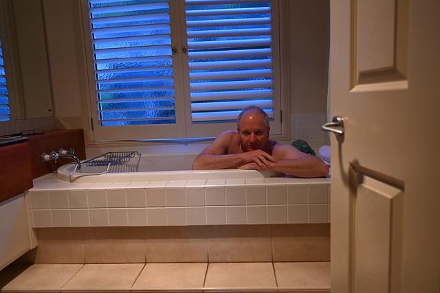 Cool day, warm bath