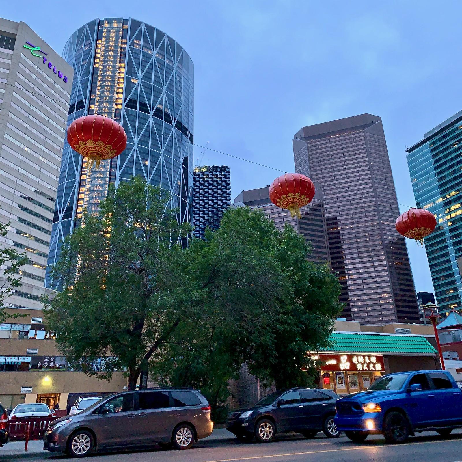 Hanging lanterns, Calgary, Alberta,Canada