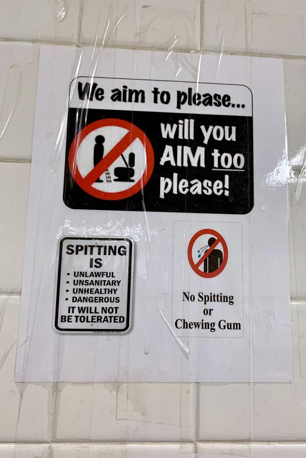 Bathroom humour, Calgary, Alberta, Canada