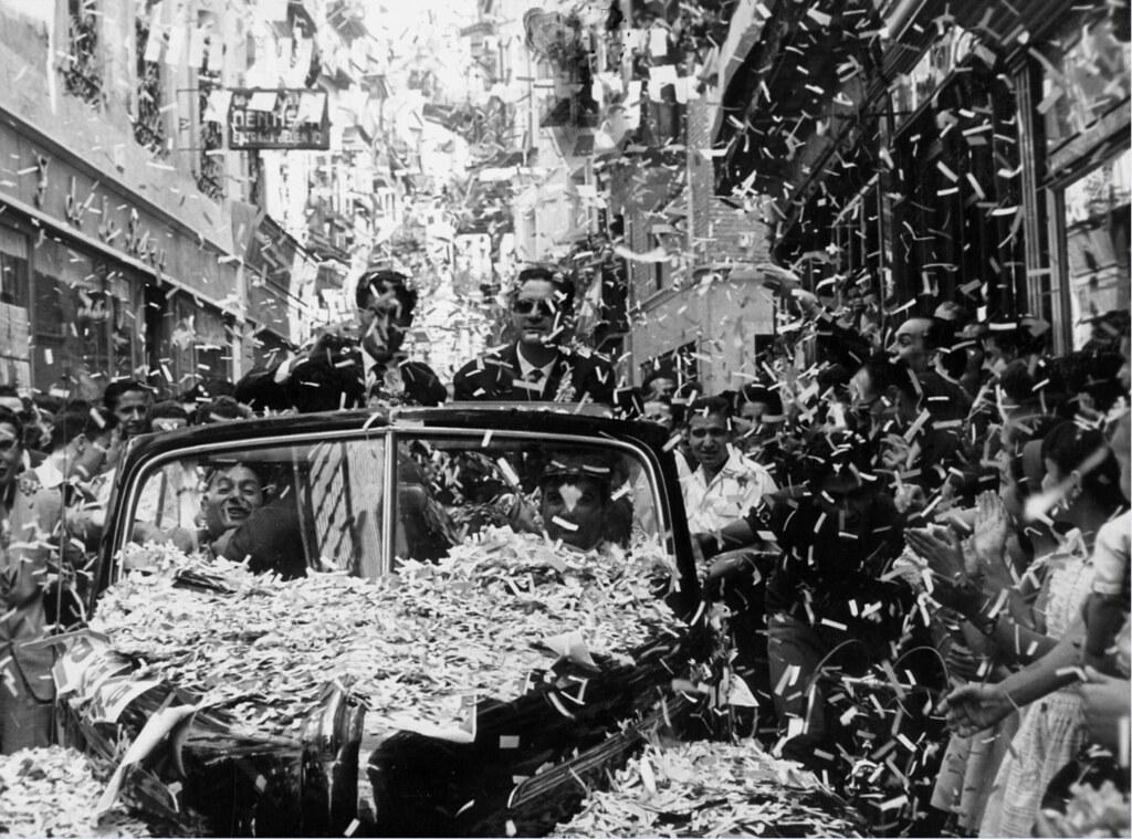 Federico Martín Bahamontes recibe el homenaje de la ciudad de Toledo tras ganar el Tour en 1959