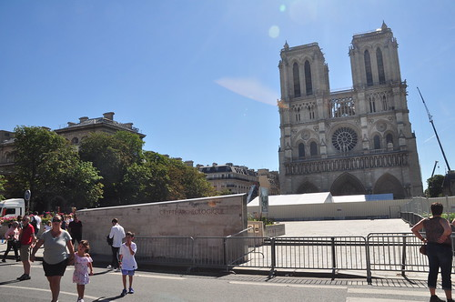 Notre Dame under construction, July 2019