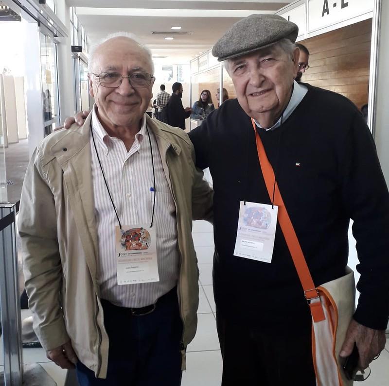 Tamayo con Mauro Morelli, obispo emérito de Duque de Caixas