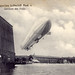 The Zeppelin L.Z.4 lifting off from its hangar at the Boodensee [Germany, 1908]