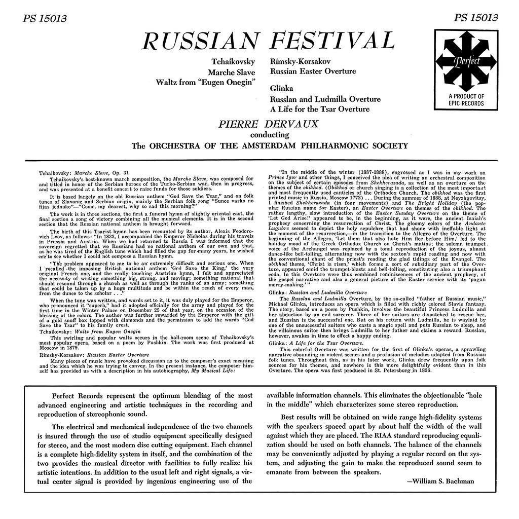 Pyotr Ilyich Tchaikovsky - Russian Festival