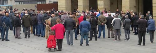 Momento concentración de los y las pensionistas los lunes