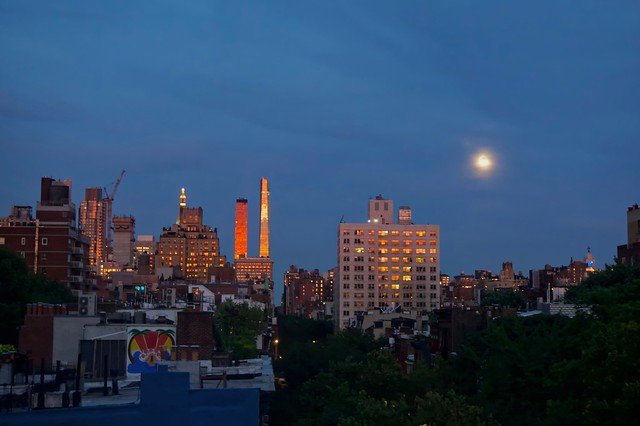 Between the moon & New York City