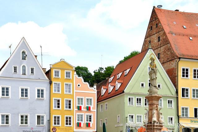 Landsberg am Lech, Juli 2019 ... Historische Altstadt, Lechwehr ... Fotos: Brigitte Stolle