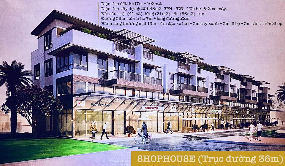 ShopHouse trục đường 36m