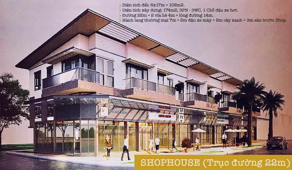ShopHouse trục đường 22m