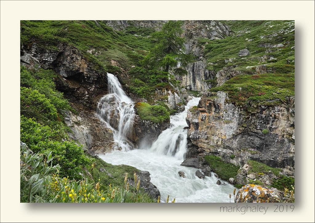 Waterfall, Italian Alps