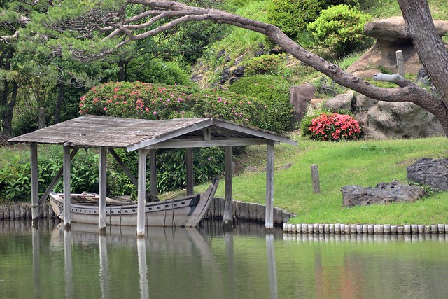 A Japanese garden is incomplete without a boat